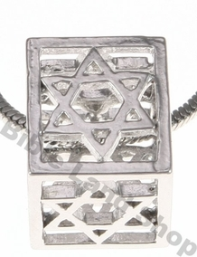 3D Square Star of David Necklace