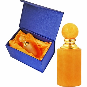 Alabaster Jar Frankincense Myrrh and Cinnamon Anointing Oil - Golden