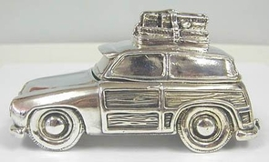 Artisan Sterling Silver Car Clip Holder