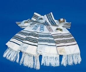 """Aviv"" Jewish ""Mo'adim"" Tallit for adults 140X200cm"