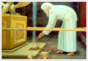 Biblical Paintings  -  The High Priest in the Holy of Holies