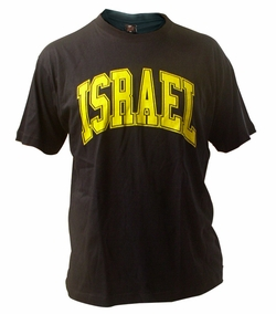 Black and Yellow Israel T-Shirt