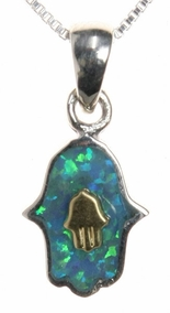 Cabbalic Hamsa Necklace