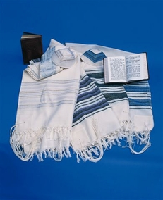 """""""Carmel"""" Jewish handmade Talit woven of clean wool for grown-up 50X180cm"""