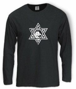 Casual Star of David Long Sleeve T-Shirt