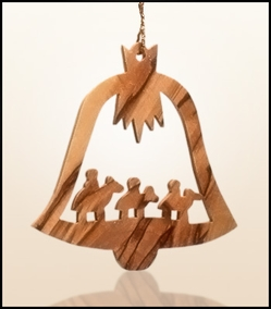 Christmas ornaments 2D hanging olivewood CHO-20