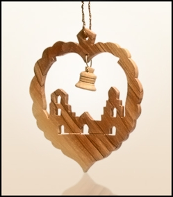Christmas ornaments 2D hanging olivewood CHO-L1