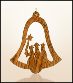 Christmas ornaments 2D hanging olivewood CHO-S07