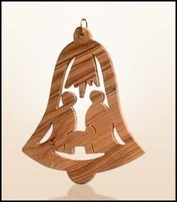 Christmas ornaments 2D hanging olivewood CHO-S13