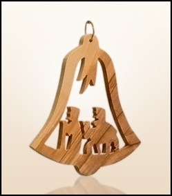 Christmas ornaments 2D hanging olivewood CHO-S19