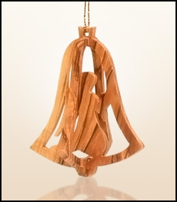 Christmas ornaments 3D hanging olivewood CHO-31X