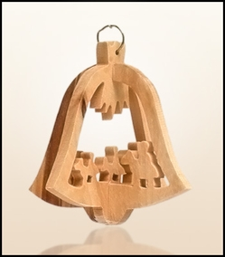 Christmas ornaments 3D hanging olivewood CHO20XS
