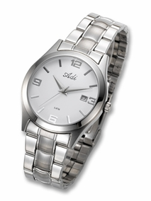 Classic stainless steel gent's watch - 2929