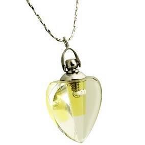 Crystal Heart Pendant with Anointing Oil