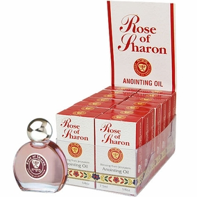Display Case of 14 Rose of Sharon Anointing Oils