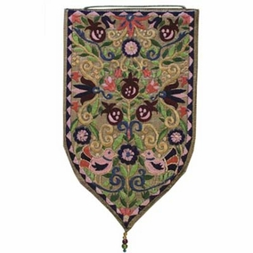 Embroidered Large Pomegranates Wall Decoration - Gold CAT# WSB - 5G