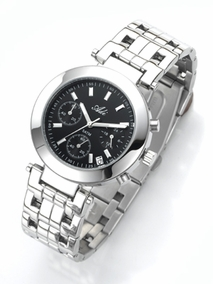 Exclusive unisex stainless steel watch - 2625-3