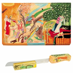 Figures Challah Board & Challah Knife + Stand CAT# CB-4 + NS-4