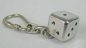 Great Artisan Sterling Silver Dice Key Chain