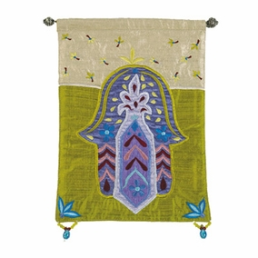 Hamsa – Flowers – Gold Wall Hanging CAT# HS-6