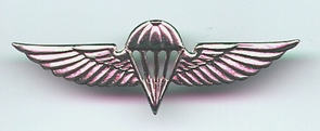 Israel Army Paratroopers Jumping Wings Insignia