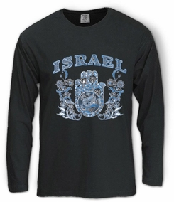 Israel tribal hamsa Long Sleeve T-Shirt