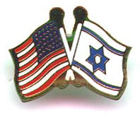 Israel with USA Flag Pin