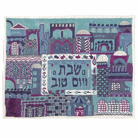 Jerusalem In Blue Challah Cover CAT# CHE-12
