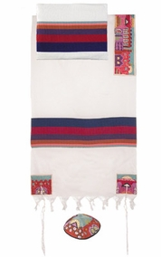"Jerusalem in Color Tallit CAT# THE- 4 , 42"" X  75"""