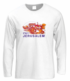 Jerusalem Landscape Long Sleeve T-Shirt