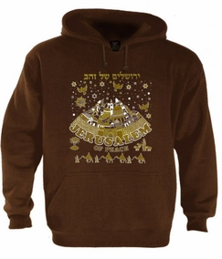 Jerusalem of Gold and Peace Hoodie