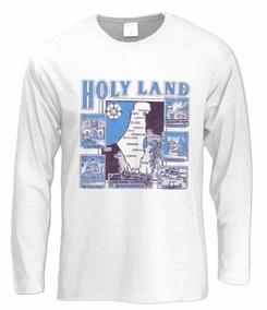 Jesus Trail in the holyland Long Sleeve T-Shirt