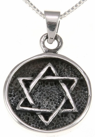 Jewish Talisman Sterling Silver Necklace