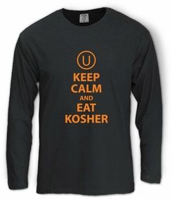 Keep Calm and Eat Kosher Long Sleeve T-Shirt