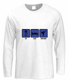 "Krav Maga ""Eat,Sleep & Fight"" Long Sleeve T-Shirt"