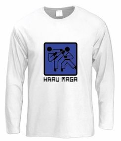 Krav Maga Graphic Sign Long Sleeve T-Shirt