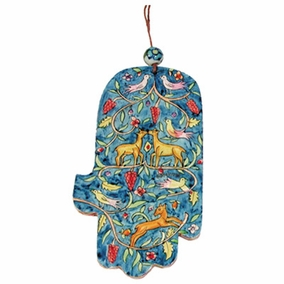 Large Wood Painted Hamsa (HAL- 5) CAT# HAL- 5