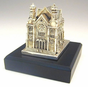 Miniature Model Of The Great Synagogue In Budapest, Hungary