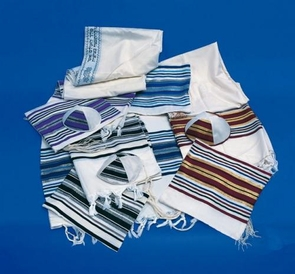 """""""Noy"""" Traditional Jewish Tallit with 8 tzitziot for adults 130X180cm"""