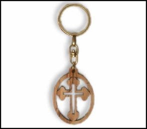 olive wood key chains KCH-013