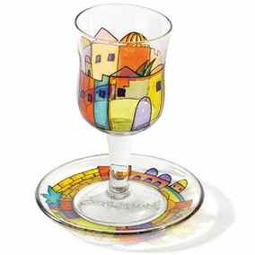 Painted Wineglass and Saucer CAT# GC- 4