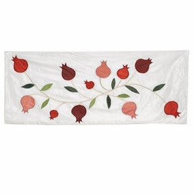 Polysilk Pomegranates in White Runner CAT# RAS - 1