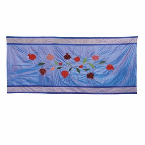 Pomegranates in Blue Table Cloth CAT# TBS- 2 - Small