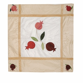 Pomegranates In Gold Square Pillow CAT# PL - 1