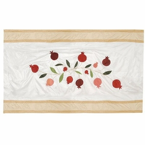 Pomegranates in Gold Table Cloth CAT# TBS- 1 - Large