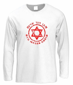 Red Magen David Long Sleeve T-Shirt