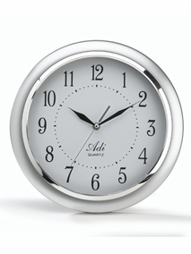 Round wall clock with silver frame  - 2022
