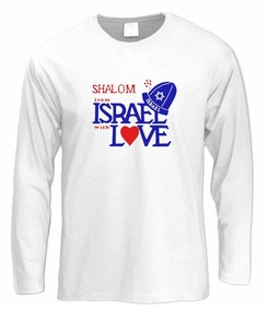 Shalom from Israel Long Sleeve T-Shirt