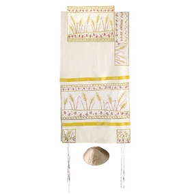 "Sheaves of Weat Raw Tallit CAT# TFA- 6, 34"" X 70"""