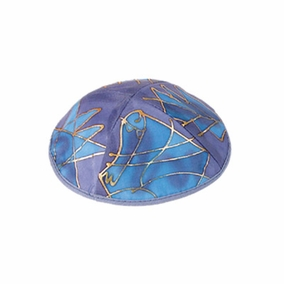 Silk Painted Kippah ( YAS-1) CAT# YAS-1